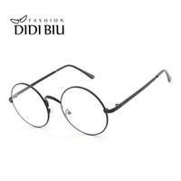 b69cde17616 DIDI Round Clear Lens Eyeglass Frame Retro Thin Metal Optical Spectacle  Glasses Frame Accessory Brand Designer Eyewear HN894