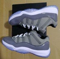 erkekler için serin basketbol ayakkabıları toptan satış-Kutu serin gri 11 s düşük adam basketbol ayakkabıları ile 11 s sneaker boyutu eur 41-47 ücretsiz kargo toptan