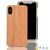 Wholesale good quality phone cases online – custom Hot Sale Good Quality Cherry Wood Mobile Phone Cover For iphone s plus X s SE Wooden Phone Cases Wood PC Case For Samsung S9 S8