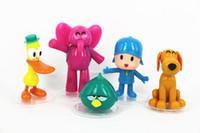 Wholesale pocoyo toys - 5 pcs lot Small P You Doll 5 Pocoyo Zinkia Cute Toy Gift Doll Hand Decoration