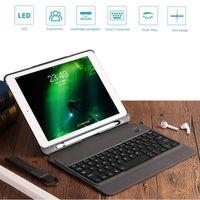 ultra ince bluetooth klavye toptan satış-Yeni ultra ince kablosuz bluetooth klavye aydınlatmalı koruyucu klavye kılıf tablet kapak ipad air 1/2/pro 9.7 / pro 9.7