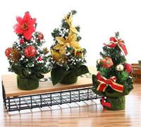 ingrosso giocattoli decorativi per ufficio-Casa calda Buon albero di Natale Camera da letto Decorazione scrivania Giocattolo bambola regalo Ufficio Casa Bambini Natale Ingrosso Decorazioni natalizie per la casa