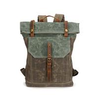Wholesale cool men shoulder backpacks for sale - Group buy 2018 Mens Backpack Vintage Shoulder Bags Student School Bag Travel Bags for Men Waterproof Canvas Bagpack Cool Fashion Outdoor Sport Bags