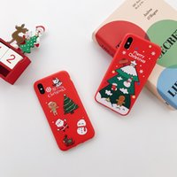 Renna Natale Regalo Babbo Cover Custodie IPHONE 7 8 Plus x XS