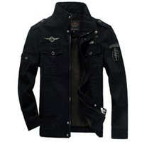 Wholesale Slim Military Jackets For Men - Men Military Army jackets plus size 6XL Hot cost outerwear embroidery mens jacket for aeronautica militare