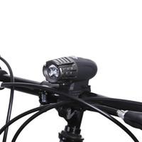 suya dayanıklı lambalar toptan satış-Suya dayanıklı plastik Bisiklet Güvenlik USB Şarj Edilebilir Bisiklet LED Ön Işık Su Dayanıklı Bisiklet Gidon Lambası