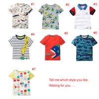 cooles mädchen scherzt t-shirt großhandel-2018 INS NEUE ANKUNFT Jungen Mädchen Kinder Kleidung Kurzarm Cartoon Animal Print T-Shirt Kind Baby Sommer cool lässig T-Shirt
