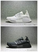 Wholesale japanese laced shoes - Japanese NMD R1 triple black Japanese Men's and Women's Running Shoes nmd r1 all-black primeknit Sneakers