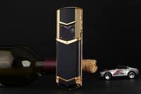 neue telefonrahmen großhandel-New Unlocked Fashion Luxus-Handy für Mann Frau Mädchen Dual SIM-Karte Leder Metallrahmen Edelstahl 8800 Handy Handy