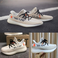 Wholesale nude color shoes flats - NEW COLOR 2018 SPLY 350 V2 Kanye West Mens Women Designer Running Luxury Brand Men Shoes Sneakers Trainers