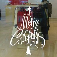 nuevo fondo de pantalla de árbol al por mayor-Creativo feliz año nuevo árbol de navidad etiqueta de la pared tienda de oficina calcomanías para ventanas papel tapiz de navidad arte sala de estar decoración del hogar regalo de la fiesta