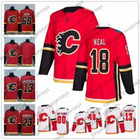 Wholesale flame numbers - Customized Calgary Flames Hockey Jerseys Stitched Any Number Name Custom 2018 NEW Brand Red Home White 18 James Neal Giordano Iginla S-60