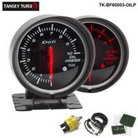 medidor de pressão do carro venda por atacado-Tansky Defi Guage 60mm MEDIDOR de PRESSÃO DO ÓLEO / Medidor de Pressão de Óleo / Medidor de carro / Auto Calibre Suporte Preto TK-BF60003-OILP