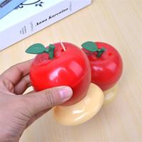 ingrosso vendita mela rossa-Unico rosso mela forma design stuzzicadenti premere auto creativo stuzzicadenti scatola cubo per la decorazione della casa scrivania vendita calda 1 5yd z