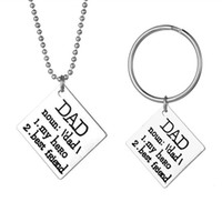 Wholesale heroes theme - DAD My Hero Best Friend Theme Key Buckle For Father Day Best Gifts Simple Keychain Fashion Popular Keys Ring New 3 2hh Z