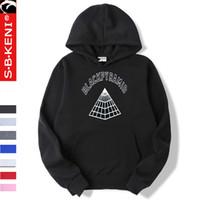 roupa casual preta para homens venda por atacado-Pyramid Black Men Hoodie Moda Tops Brasão Preto Pirâmide roupa masculino moletom com capuz Mens Moletons Hoodies capa Hip hop