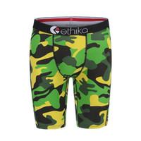 pantalon rojo para hombre al por mayor-S-2XL Envío gratis Rojo / verde / gris / ejército Camuflaje Ethika Mens Underwear Sport Shorts Boxer Pantalones Pantalones S / M / L / XL