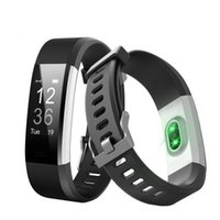 Wholesale ID115 HR Plus Smart Bracelet Fitness and Sleep Tracker Pedometer Heart Rate Monitor Smart band Wristband