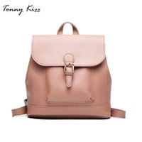 Wholesale bag school girl korea resale online - Tonny Kizz Korea backpack women fashion school bags for teenage girls PU female backpacks large capacity ladies backpack school