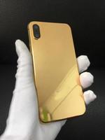iphone 24k gold großhandel-Top Luxury 24k Gold vergoldet Golden Metal Lünette Gehäuse für iPhone X mittleren Rahmen Batterieabdeckung