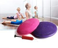 pvc masaj paspasları toptan satış-Anti-isyan Dengeli Yoga Masaj Plakası Yastık Istikrarlı Disk Dengesi Wobble Ped Ayak Bileği Diz Kurulu Masaj Topu Mat