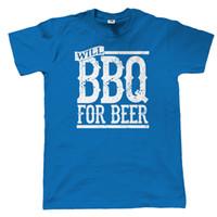 bira yılbaşı hediyeleri toptan satış-Barbekü Barbekü bira adam tişört - Noel hediyesi anne