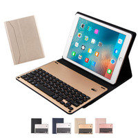Wholesale keyboard ipad pro for sale - Group buy Removable Bluetooth Keyboard Leather Case Aluminum For iPad Pro Air1 Mini