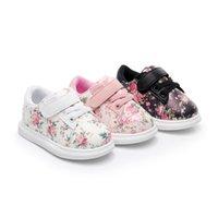 ingrosso carino scarpe da bambino rosa-Cute Baby Shoes For Girls Soft Mocassini Shoe 2018 Autumn pink Flower bambini Sneakers Toddler Boy Neonati primi camminatori
