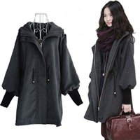 Wholesale Korean Slim Skirt - Korean Casual Fashion Women Show Slim Overcoat Jacket Coat Female Zipper Hooded Trench Woolen Warm Outwear Wool Coats YF86
