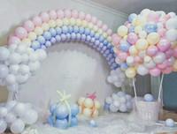 ingrosso decorazione in lattice-100pcs Mix Color Macaron Palloncini in lattice Matrimonio Festa di compleanno 2.2g Rosa Menta Rose Air Helix Lattice Baby Decor Baby Shower Girl