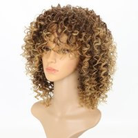 Wholesale high temperature fiber extension - Europe and the United States wig wig African girl high temperature silk fiber cap women factory direct