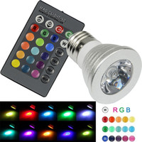 Wholesale 6W High Power E27 RGB LED Bulb Light Color V V V Lampada Changing lamp spotlight with Remote Controller