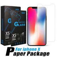 película protectora al por mayor-Protector de pantalla premium para iPhone Xs Max 8 7 Plus Película protectora de vidrio templado para Galaxy J7 Prime J3 2017 Envío en un día con paquete
