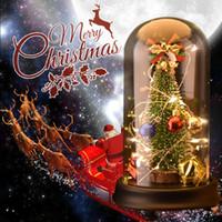 ingrosso piante artificiali hanno portato gli alberi-Decorazioni per alberi di Natale con carillon luminoso a LED in vetro finto Piante artificiali finte Decor per decorazioni natalizie