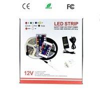 Wholesale rgb remote kit - SMD 5050 Led Strips RGB Lights Kit Waterproof IP65 + 44 Keys Remote Control + 12V 5A Power Supply With EU AU US UK Plug