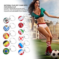 Wholesale Men Key - World Cup National Flag KeyChains Keyring Keyfob Football Team Fan Souvenir Gift Fans Decor Souvenir Gift Key Holder FFA224 62Styles 300pcs