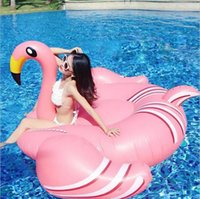 Wholesale Giant Party Ring - Giant Inflatable Flamingo Pool Float Toys 190*190x130CM Swimming Ring Circle Party Decoration Inflatable Mattress Beach Toys 10pcs OOA4574