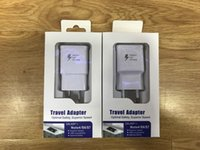 Wholesale Travel Charger Iphone Box - US EU Travel Fast Wall Charger For Samsung S6 S7 Edge S8 PLUS Note 4 5 NOTE 8 With Retail box