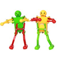 Wholesale plastic puzzles for babies for sale - Group buy Walking Dancing Robots Toys degrees Clockwork Wind Up Dancing Robot Toy For Baby Kids Developmental Gift Puzzle Christmas Gifts C4645