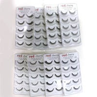 Wholesale red black hair styles for sale - Red Cherry D False eyelashes pairs pack Styles Natural Long Professional makeup Big eyes High Quality