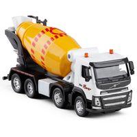 mezclador de juguete al por mayor-1:50 Volvo Engineering Construction Mixer Truck aleación de juguete diecasts modelo de metal soundlight colección modelos envío gratis