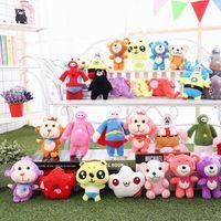 Wholesale stuff teddy - Plush toys 15-20cm Cartoon Malyshariki Smeshariki Stuffed toy Hedgehog Kikoriki Nyushenka pandochka Plush Toys children Kids Gifts