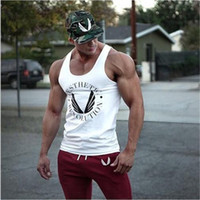 Wholesale top fitness equipment brands for sale - New Singlets Mens Tank Tops Shirt Bodybuilding Equipment Fitness Men S Golds Stringer Tank Top Brand Clothes Undershirt