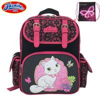 портфели для бабочек оптовых-JASMINESTAR Cartoon School Bag Grade 1-3-6 Kids Orthopedic Satchel Butterfly Cat Owl Portfolio Backpack For School For Girls