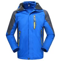 Wholesale Snow Jackets For Men - Men Professional Ski Jackets Winter Warm Snowboarding Coat Waterproof Mountain Skiing for Men Snow Clothing 5 Colors