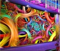 cool 3d wallpaper großhandel-3D Wallpaper benutzerdefinierte Fototapete Coole Nachtclub Blumenbar KTV Tooling Wandwandbilder Wallpaper für Wände 3 d