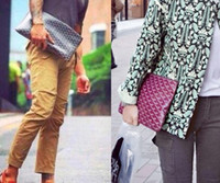 Wholesale rivets envelope purse for sale - Group buy 2018 luxury famous designer top quality men and women bag classic fashion cm and cm size clutch purse handbag