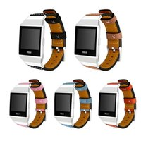 Wholesale ionic bracelets - For Fitbit Ionic Band Adjustable Leather Band Bracelet Replacement Wrist Watch Band for Fitbit Ionic Watch