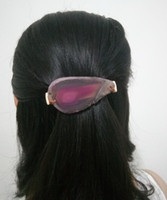 Wholesale christmas hair accessory for sale - New Handmade Agate Stone Barrettes Semi precious Stone Hair Clip Natutal Fashion Barrette For Women Hair Accessories