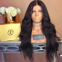 malezya saç perukları işlenmemiş toptan satış-Dantel Ön Peruk Doğal renk Gevşek Dalga Brezilyalı Malezya Virgin İnsan Saç Tam Dantel Peruk Işlenmemiş Ucuz Fiyat Için Satan